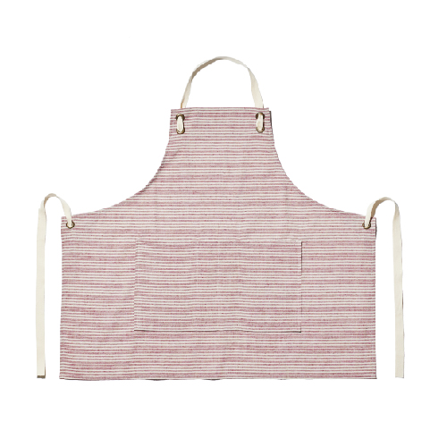 STRIPE APRON-RED