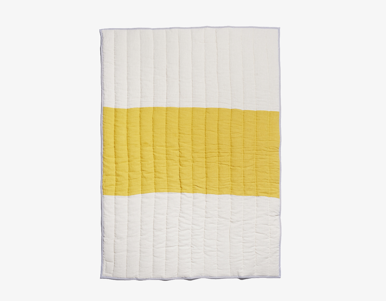 LINEN STRIPE BLANKET-YELLOW