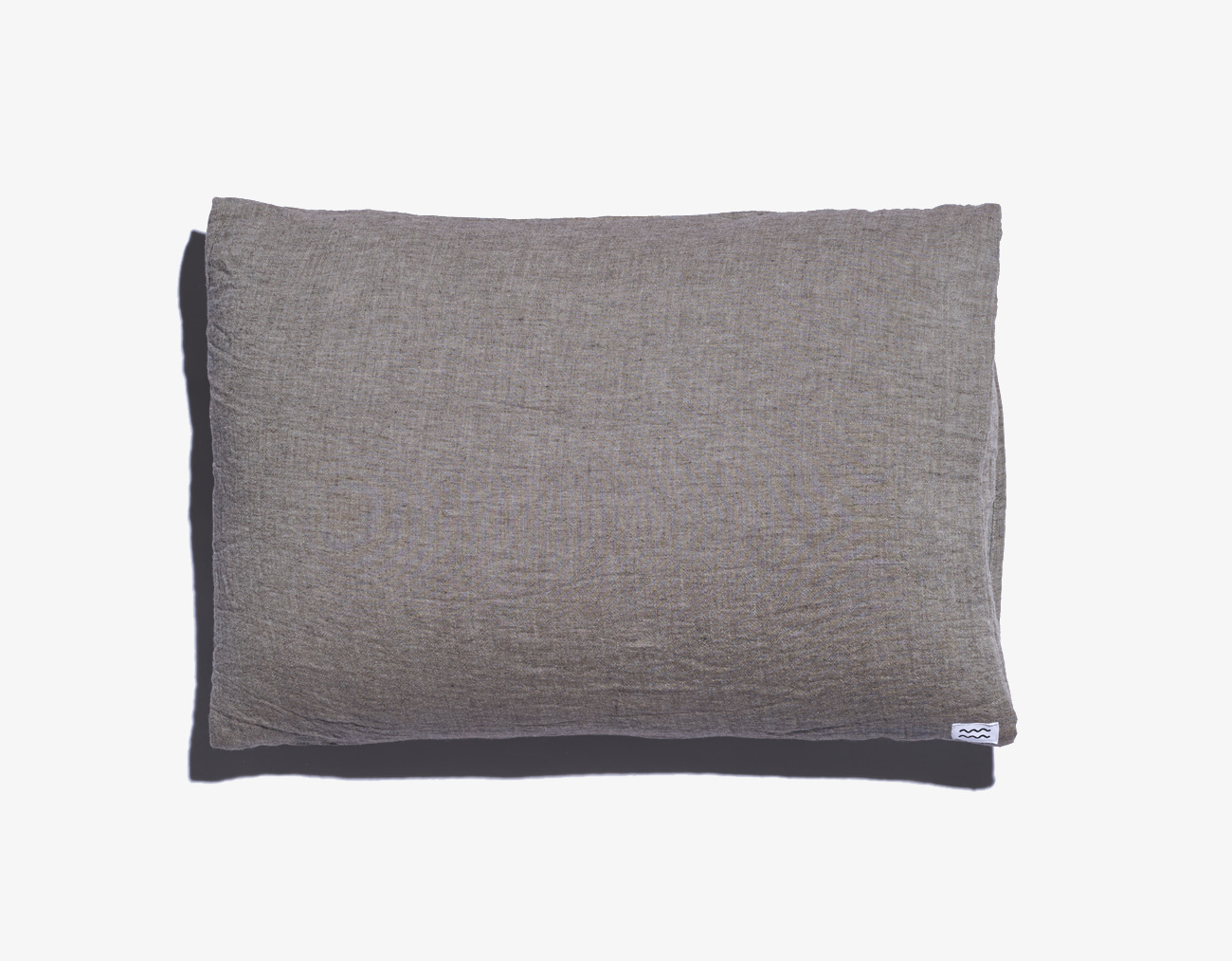 DOUBLE COTTON PILLOW COVER-BROWN