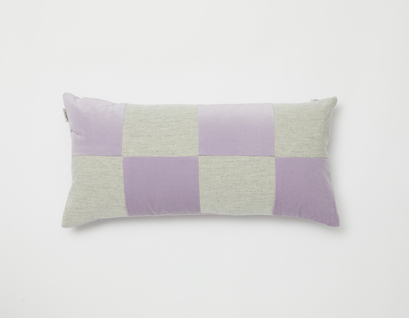 VELVET CHECKERED CUSHION_3060LAVENDER