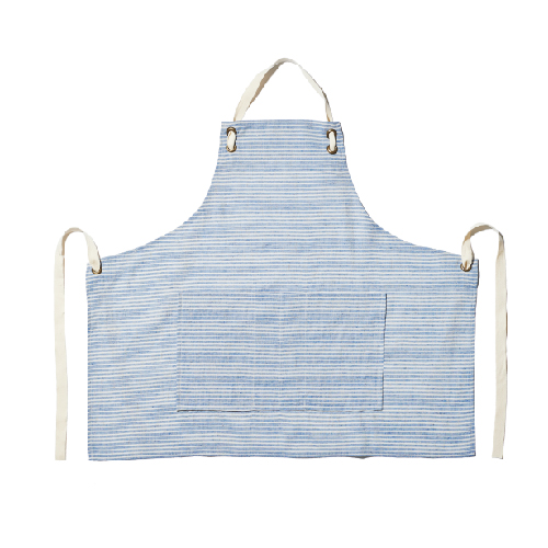 STRIPE APRON-BLUE