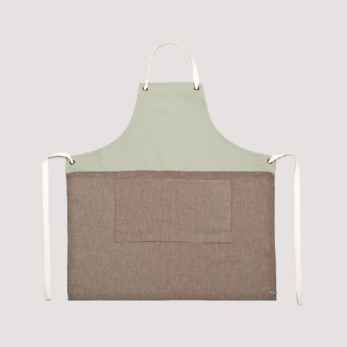COLOR BLOCK APRON_MINT/NATURAL