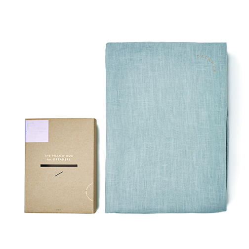 DREAMER PILLOW CASE -  GRAYISH BLUE LINEN