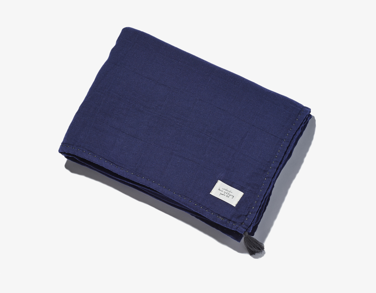 COTTON GAUZE BLANKET-NAVY