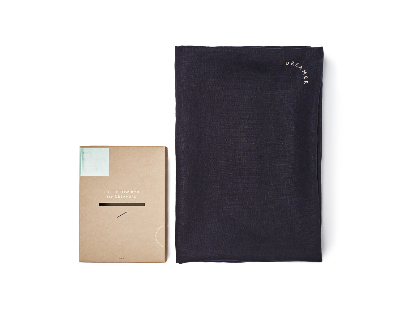 DREAMER PILLOW CASE -  CHARCOAL LINEN