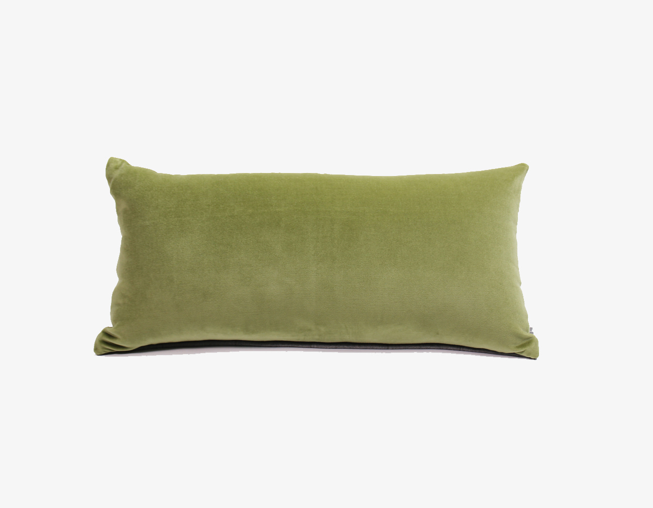 VELVET STITCH CUSHION_OLIVE