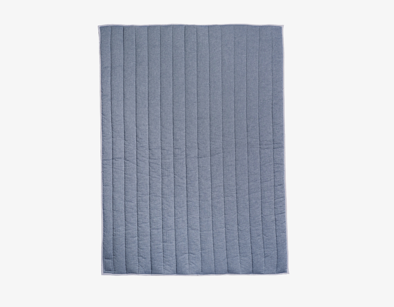 DOUBLE COTTON BASIC BLANKET-BLUE