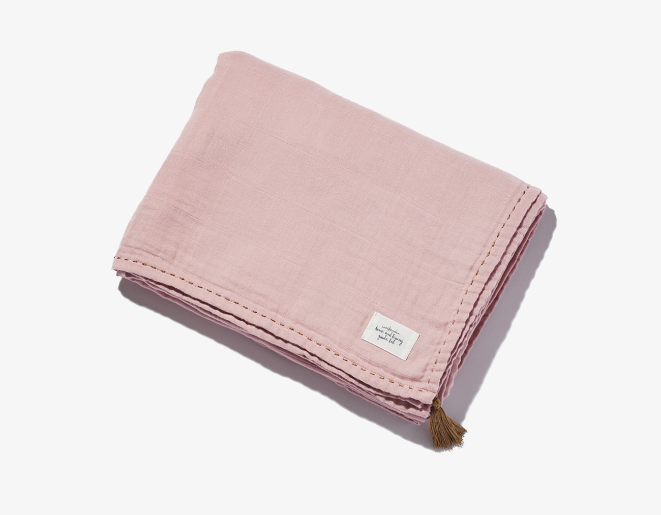 COTTON GAUZE BLANKET-PINK