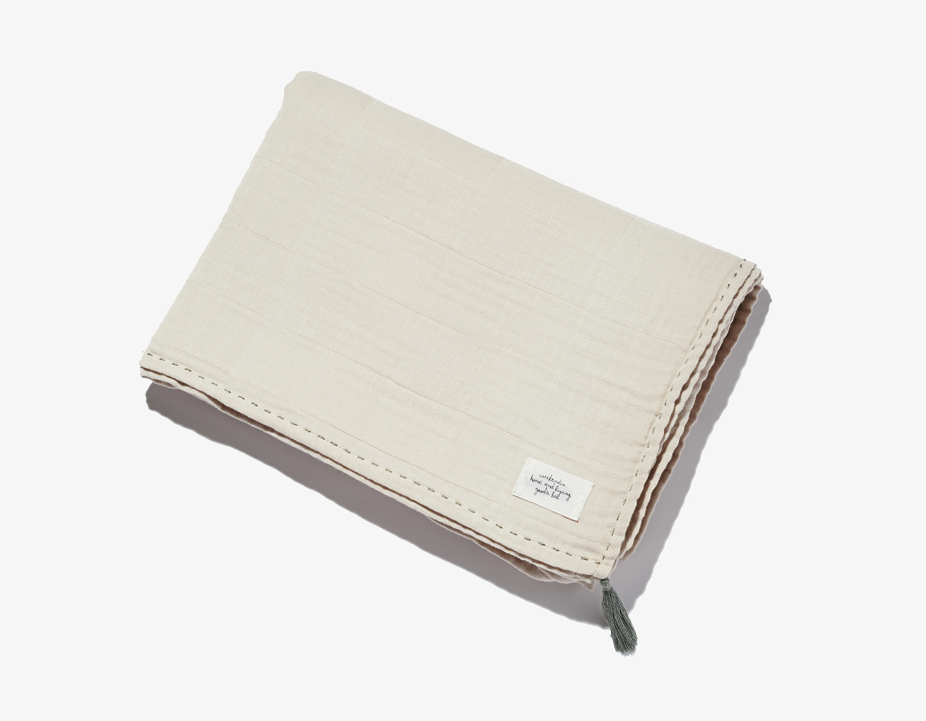 COTTON GAUZE BLANKET-IVORY