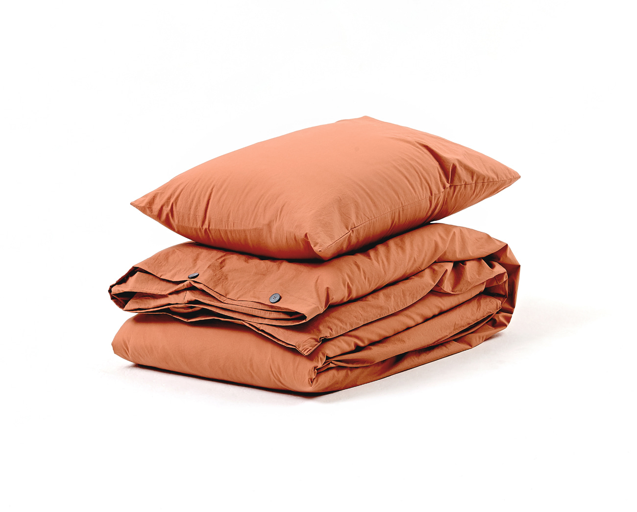 SOFT BRICK BROWN  - COTTON COVER SET