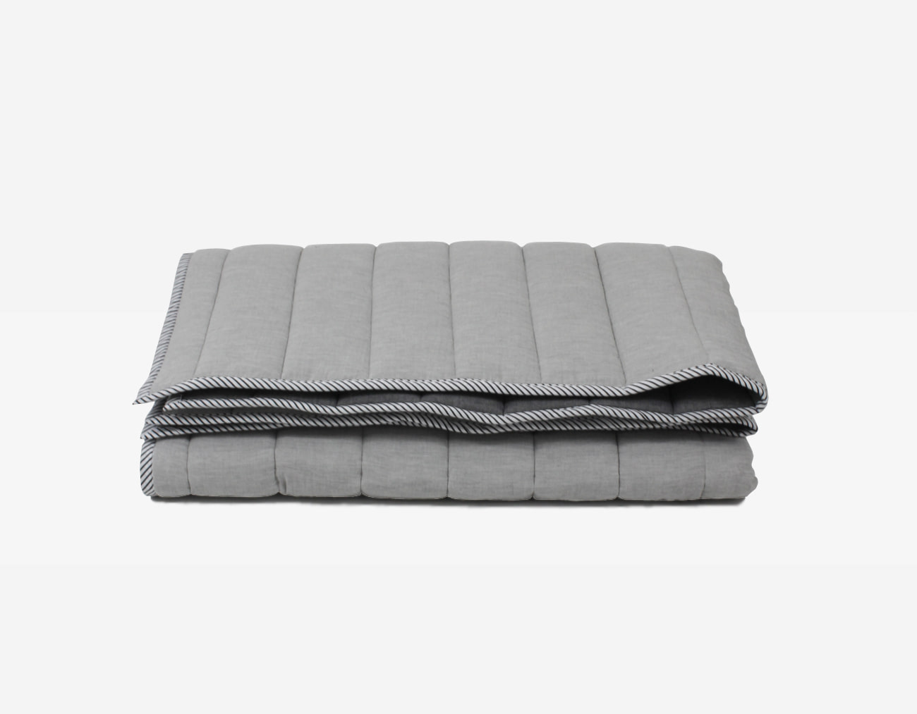 DOUBLE COTTON BASIC BLANKET - L/GRAY