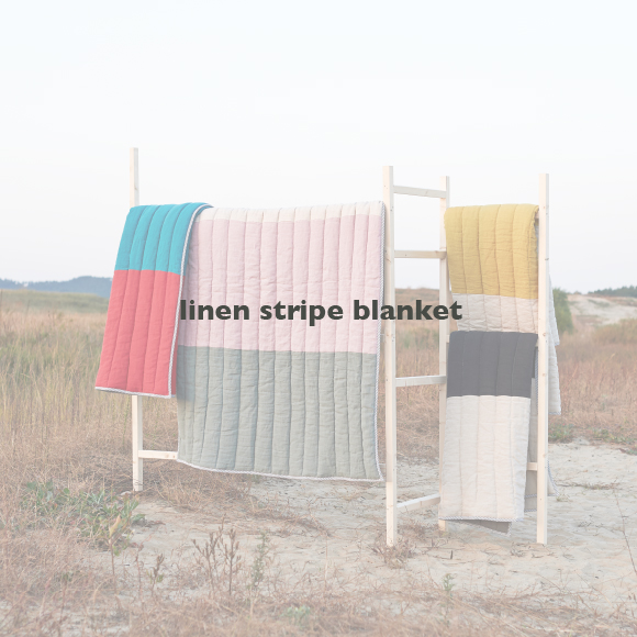 linen stripe blanket lookbook